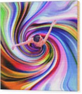 The Colorful Ballet Dress Wood Print by Steve K