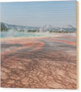 The Colorful Grand Prismatic Spring Wood Print