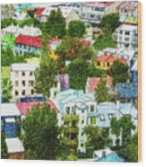 The Colors Of Reykjavik Wood Print