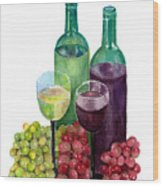 The Colors Of Wine Wood Print