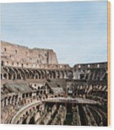 The Colosseum Colosseo Ruins Of The Gladiators Stadium Rome Italy Wood Print
