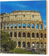 The Colosseum In Rome Italy Wood Print