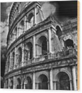 The Colosseum Rome Wood Print by Darren Burroughs