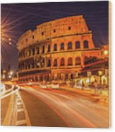 The Colosseum, Rome, Italy Wood Print