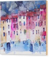 The Coloured Houses Of Portofino Wood Print
