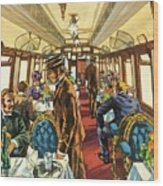The Comfort Of The Pullman Coach Of A Victorian Passenger Train Wood Print