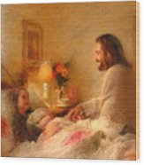 The Comforter Wood Print by Greg Olsen