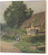 The Coming Of The Haycart  Wood Print by Arthur Claude Strachan