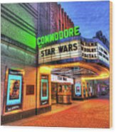 The Commodore Theatre, Portsmouth, Va Wood Print