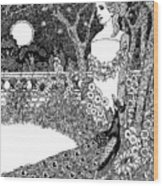 The Complaint Of The Peacock Scene From Aesop's Fables Wood Print