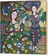 Concert in gold Wood Print