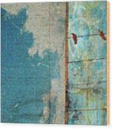 The Concrete Sky Wood Print