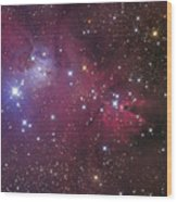 The Cone Nebula Wood Print