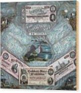 The Confederate Note Memorial  Wood Print