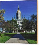 The Connecticut State Capitol Wood Print