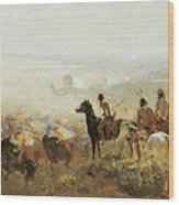 The Conquest Of The Prairie Wood Print