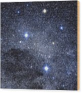 The Constellation Of The Southern Cross Wood Print