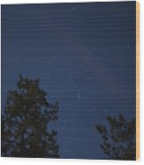 The Constellation Orion At Night Wood Print