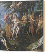 The Contest Between Apollo And Pan, 1600 Wood Print