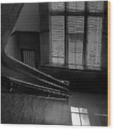 The Conversation Window Wood Print