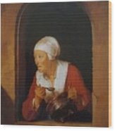 The Cook 1665 Wood Print