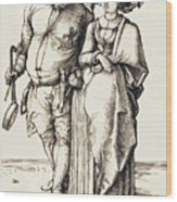 The Cook And His Wife Wood Print