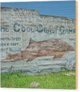 The Cool Coast Camp Wood Print