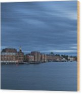 ...the Coolness Of Portsmouth...blue Hour... Wood Print