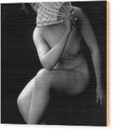 The Coquette, Nude Model, 1900s Wood Print