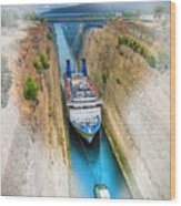 The Corinth Canal  Wood Print