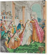 The Coronation Of Esther Wood Print