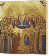 The Coronation Of The Virgin Wood Print