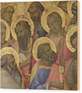 The Coronation Of The Virgin Wood Print by Lorenzo Monaco