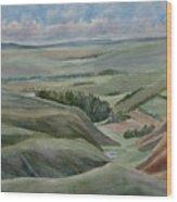 The Corrugated Plain Wood Print