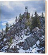 The Cosmic Ray Station Atop Sulphur Mountain, Banff, Canada Wood Print