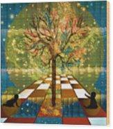 The Cosmic Tree Wood Print by Sydne Archambault