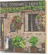 The Cotswold Arms Wood Print