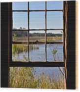 The Cotton Dock Wood Print by Melissa Wyatt
