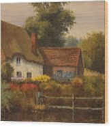 The Country Cottage Wood Print