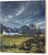 The Country Home Wood Print