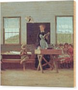 The Country School Wood Print by Winslow Homer