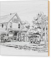 The County Line Store, 1931 Wood Print