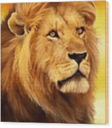 The Courageous Cecil - African Lion Wood Print