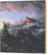 The Course Of Empire - The Savage State Wood Print by Thomas Cole