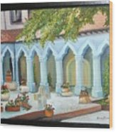 The Court Yard Wood Print