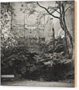 The Courtyard Wood Print