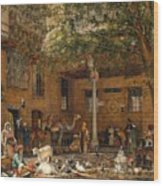 The Courtyard Of The Coptic  Wood Print