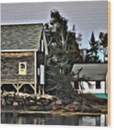 The Cove At Dusk Wood Print