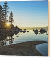 The Cove At Sand Harbor Wood Print