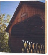 The Covered Bridge Wood Print